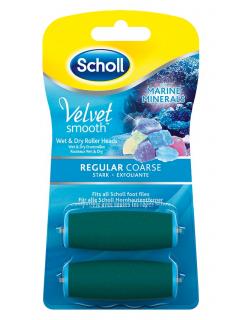 Scholl Velvet Smooth - náhradní rotační hlavice středně drsná s mořskými minerály (2ks)