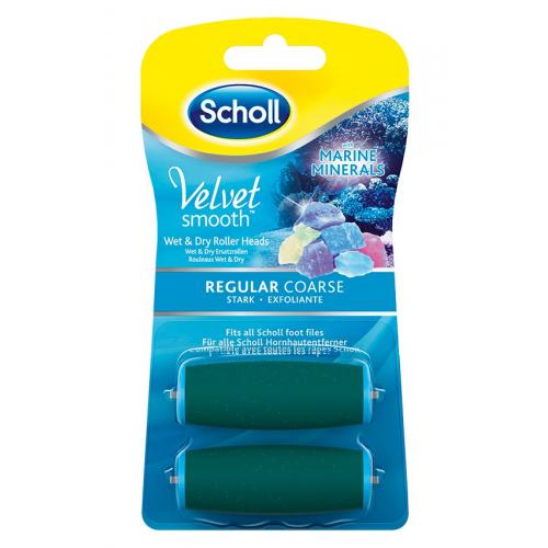 Scholl Velvet Smooth - náhradní hlavice středně drsná s mořskými minerály (2ks)