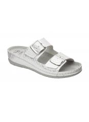 ABERDEEN bílé zdravotní pantofle