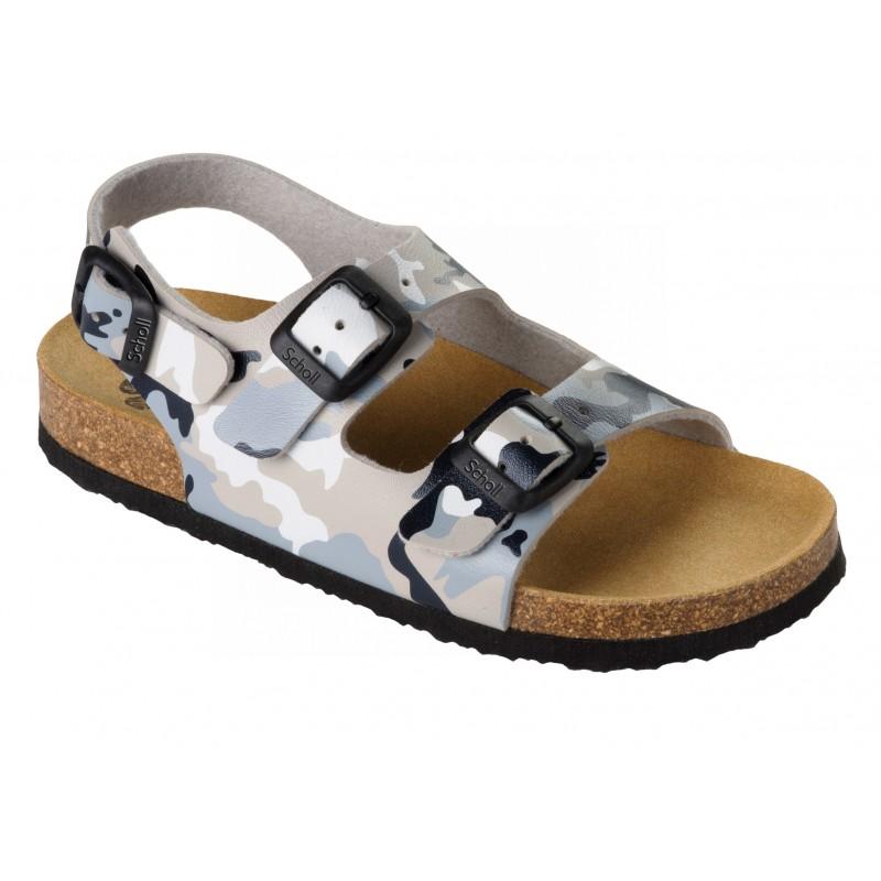 559703a87acf Scholl AIR BAG KID - šedé dětské zdravotní pantofle s páskem