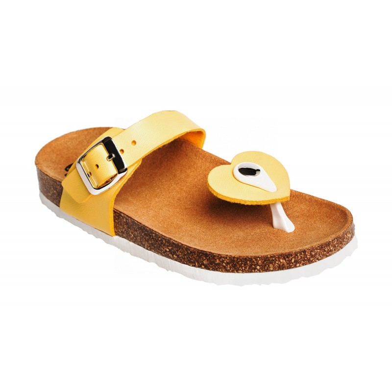 Scholl BOA VISTA KID žluté dětské zdravotní pantofle a9a8ae2694