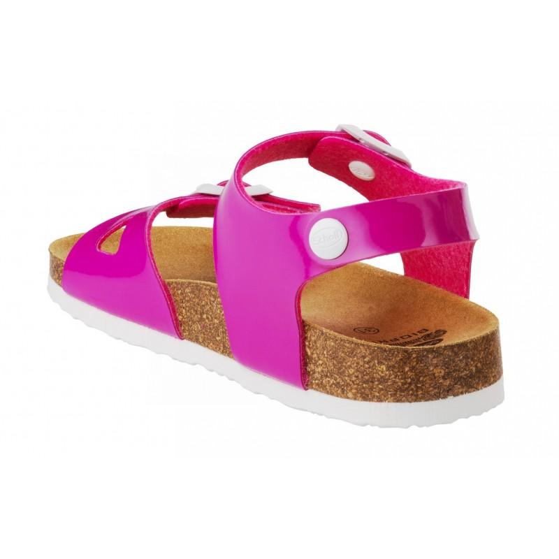 96f9d97c242 Scholl SMYLEY KID - růžové dětské zdravotní pantofle s páskem