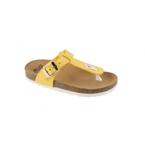 Scholl BOA VISTA KID žluté dětské zdravotní pantofle