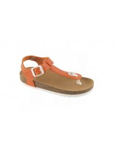 Scholl BOA VISTA KID oranžové dětské zdravotní pantofle s páskem