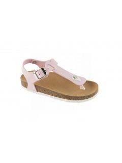Scholl BOA VISTA KID růžové dětské zdravotní pantofle s páskem