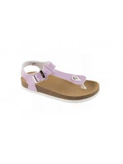 Scholl BOA VISTA KID fialové dětské zdravotní pantofle s páskem