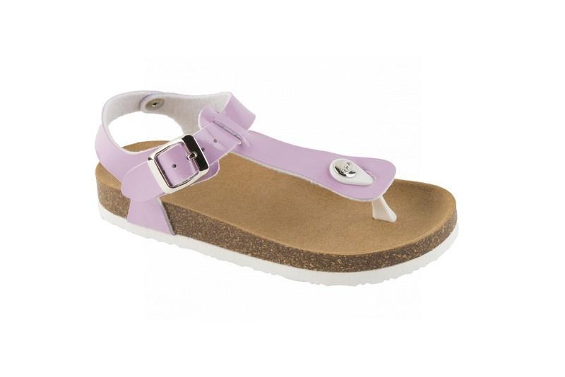 Scholl BOA VISTA KID fialové dětské zdravotní pantofle s páskem fc6e361b6b