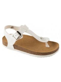 Scholl BOA VISTA KID bílé dětské zdravotní pantofle s páskem