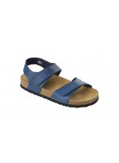 Scholl DINDER KID - tmavě modré dětské zdravotní pantofle s páskem