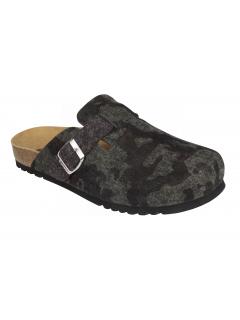 Scholl AMIATA MAN zelená domácí zdravotní obuv