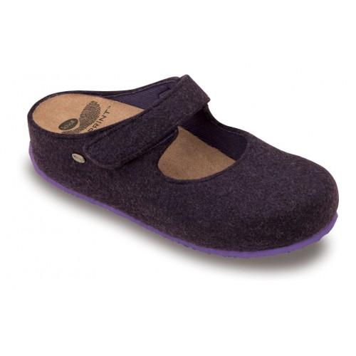 Scholl ARTESIA purpurová domácí obuv