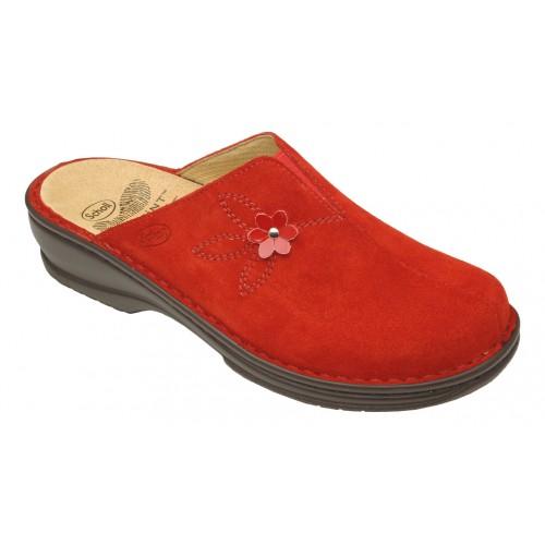 Scholl EDITH domácí červená pantofle NOVINKA