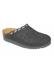 Scholl ELODIE tmavě šedá domácí obuv