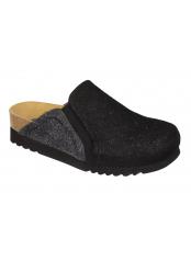 Scholl KELSIE černá domácí obuv
