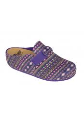 LARETH purpurová / multi purpurová domácí zdravotní obuv
