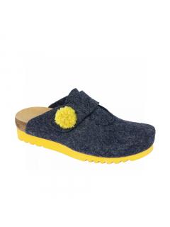 Scholl ELVY tmavě modrá domácí obuv