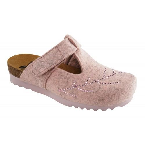 FOTINIA švětle růžová domácí obuv