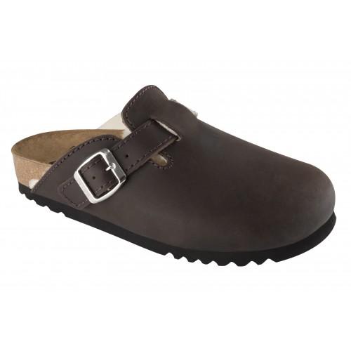 Scholl KOBLA tmavě hnědá domácí obuv