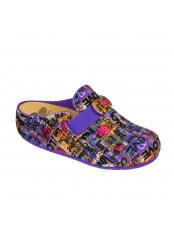 Scholl LARETH vícebarevná domácí obuv