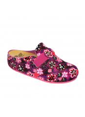 Scholl LARETH vícebarevná purpurová domácí obuv