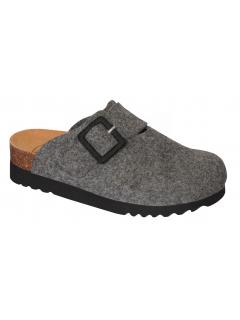 Scholl MAGGIE tmavě šedá domácí obuv