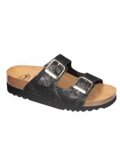 Scholl MALAREN černé zdravotní pantofle (model 2019)