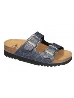 Scholl MALAREN modré zdravotní pantofle (model 2019)