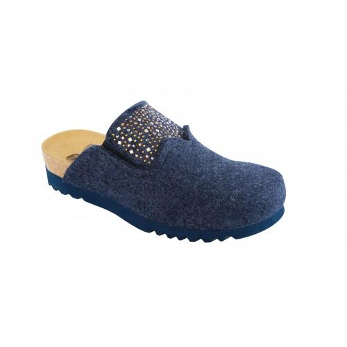 Scholl SANAKE tmavě modrá domácí obuv