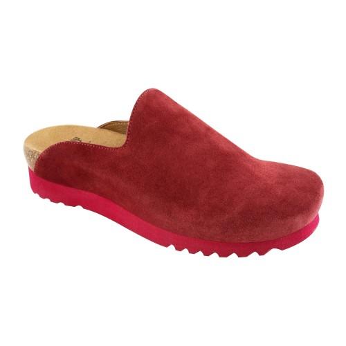 Scholl SIRDAL tmavě červená domácí obuv