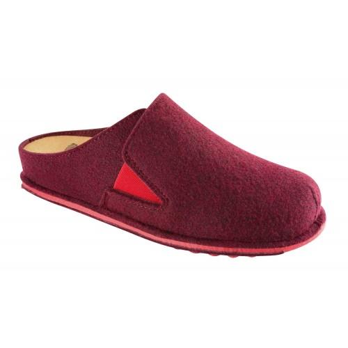 Scholl SPIKEY5 tmavě červená domácí obuv