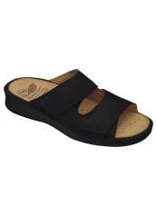 Scholl TIBERIO černé zdravotní pantofle