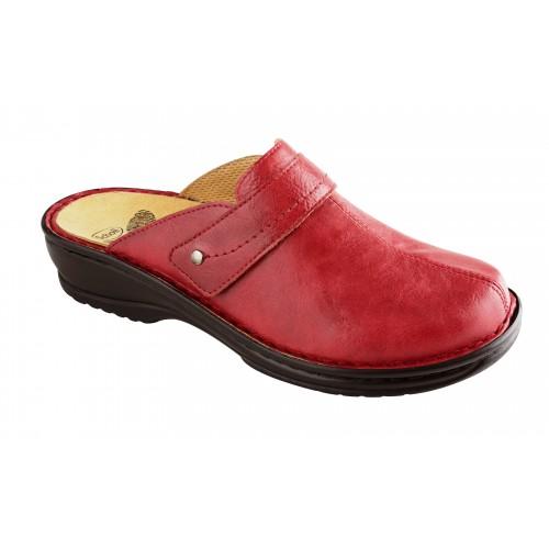Scholl LENK červená domácí obuv
