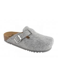 Scholl AMIATA šedá domácí obuv