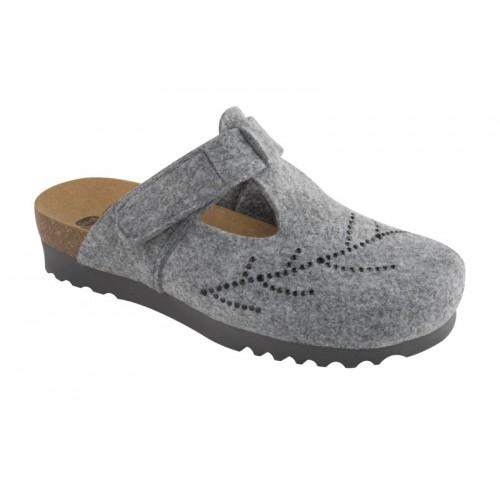 FOTINIA šedá domácí obuv