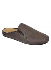 Scholl FELCE tmavě hnědá domácí obuv /model 2018/