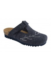 Scholl FOTINIA tmavě modrá domácí obuv