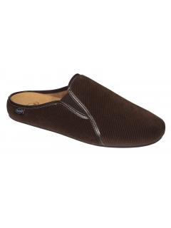 Scholl FELCE tmavě hnědá domácí obuv /model 2019/