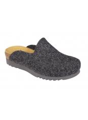 Scholl SIRDAL tmavě šedá domácí obuv