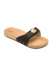 Scholl PESCURA FLAT SPORTY černé zdravotní pantofle