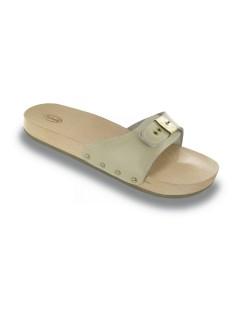 Scholl PESCURA FLAT pískové zdravotní pantofle