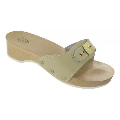 Scholl PESCURA HEEL pískové zdravotní pantofle