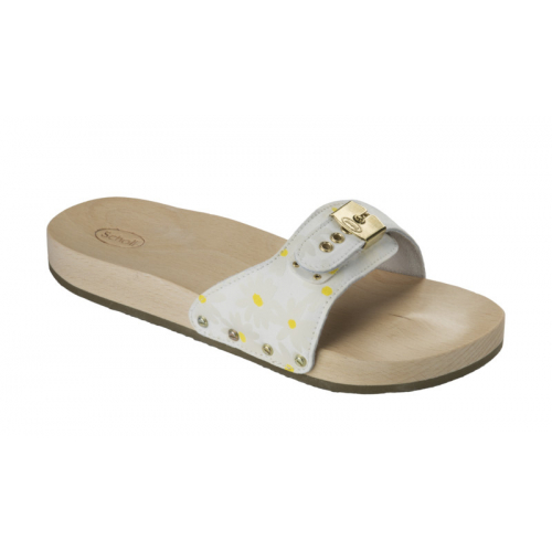 Scholl PESCURA FLAT bílé zdravotní pantofle EU 37 9183958ee2