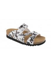 ALABAMA černé/bílé zdravotní pantofle