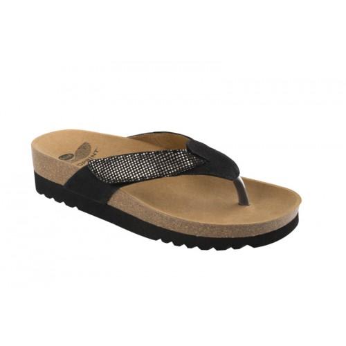Scholl ALAXIAS černé zdravotní pantofle