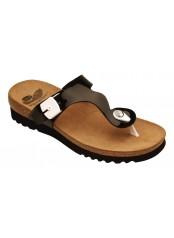 Scholl BERIC černé zdravotní pantofle