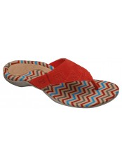 Scholl BREVA červené zdravotní pantofle