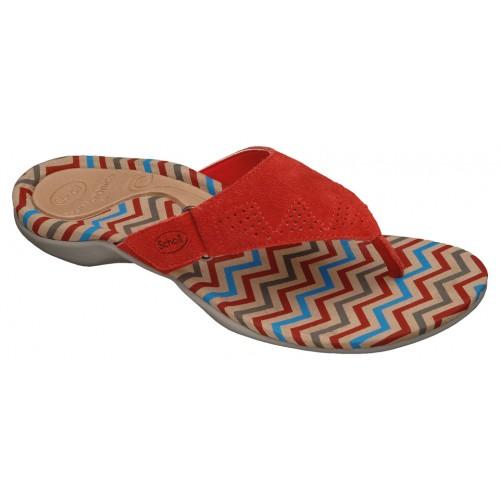 Scholl BREVA červené zdravotní pantofle EU 35