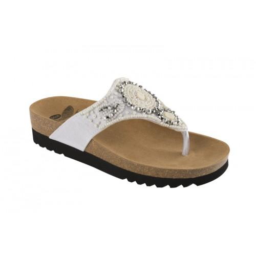 Scholl TAILA bílé zdravotní pantofle