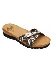 Scholl ESME černé/bílé zdravotní pantofle