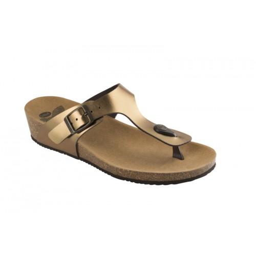 Scholl GANDIA bronzové zdravotní pantofle